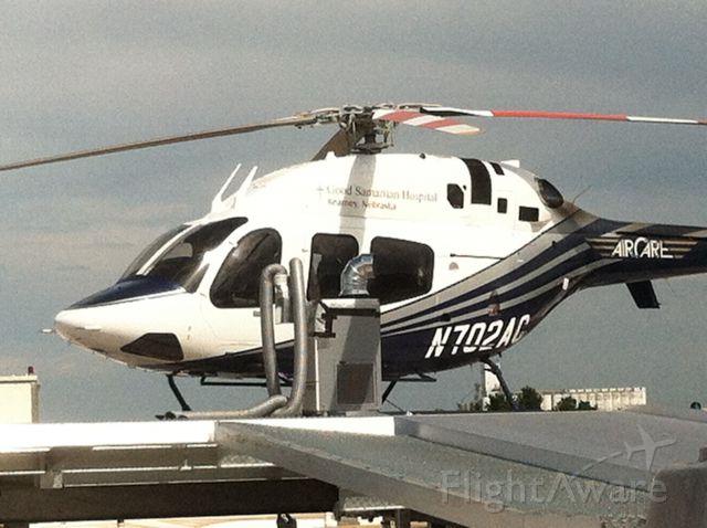 Bell 429 GlobalRanger (N702AC) - 071913 Bell Canada 429 on the pad at Good Samaritan Hospital