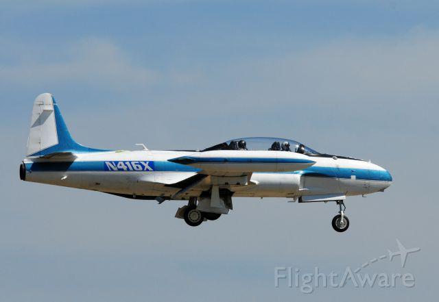 Lockheed T-33 Shooting Star (N416X) - Canadair T33 Boeing Chase Plane