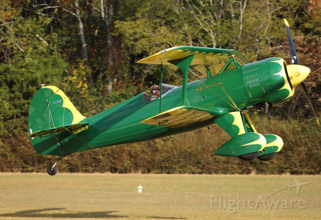 CULP Special (N367LS) - A Culps Special lifting from the grass runway at Moontown Airport, AL at the EAA 190 October Breakfast Fly-In - October 15, 2016.