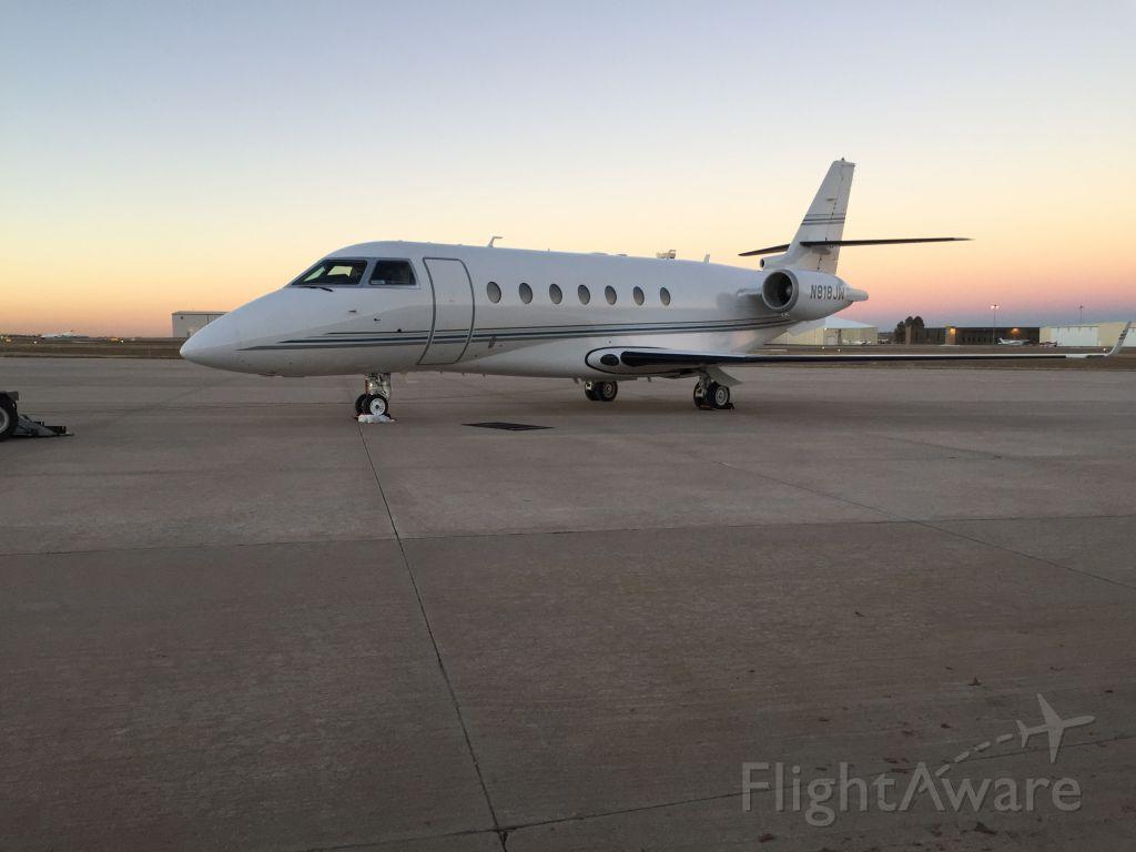 IAI Gulfstream G200 (N818JW) - Gulfstream G200 with a beautiful sunset