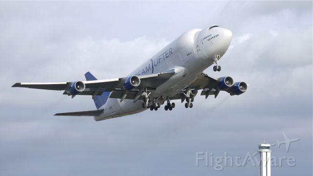 Boeing 747-400 (N718BA) - GTI4512 departs runway 16R for RJGG/NGO on 1/5/12.
