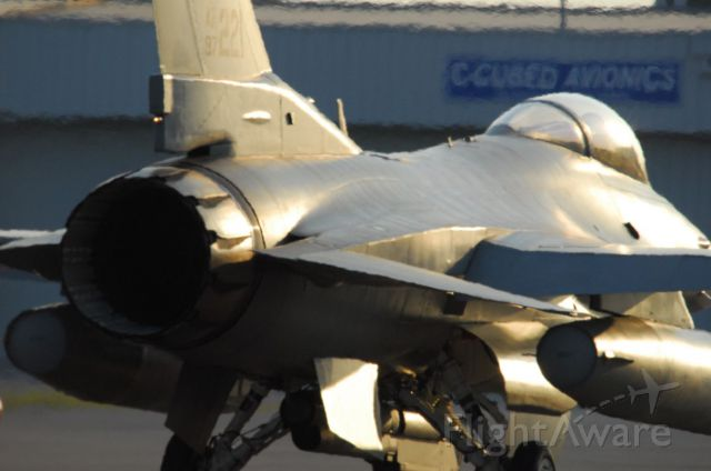 Lockheed F-16 Fighting Falcon — - F-16 Falcon taxing at Huntsville, AL.   Part of the squadron from Maxwell AFB, Montgomery, AL  Photo copyright: BlakeMathis.com