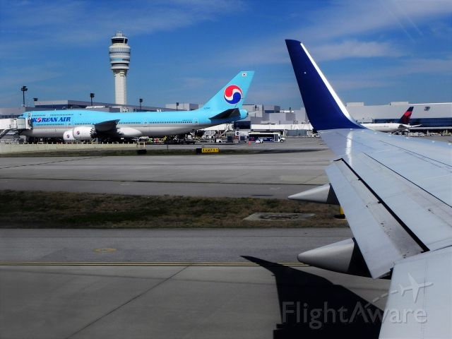 BOEING 747-8 (HL7643) - Loading for the 14-hour flight back to ICN as KE36