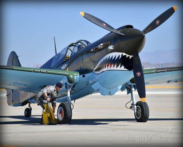 CURTISS Warhawk (N1226N) - Luke AFB Open House and Airshow 2016. P-40 ready for start up.