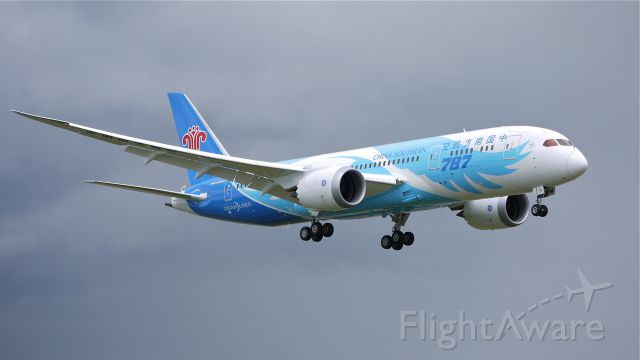 Boeing 787-8 (B-2725) - BOE380 on final approach to runway 16R to complete a flight test on 5/23/13. (LN:34 cn 34923).