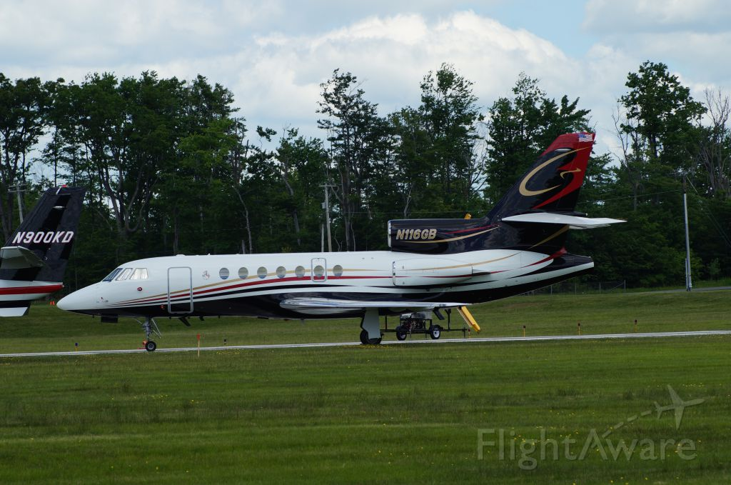 Dassault Falcon 50 (N116GB) - Stopped in at KMPO. Pocono 400 was running.
