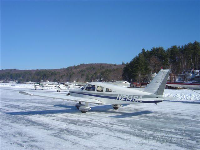Piper Cherokee (N214SA) - Alton Bay, NH ice runway/seaplane base