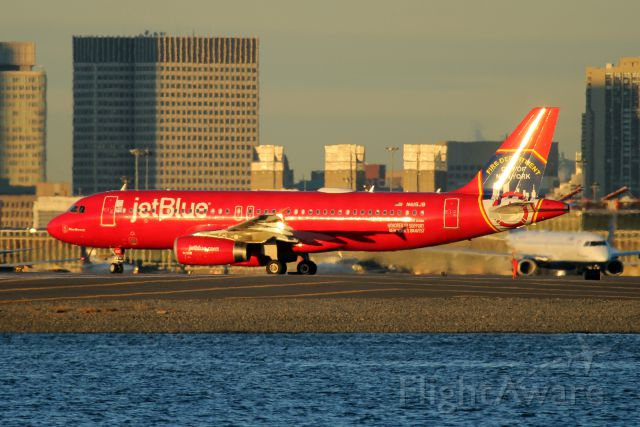 Airbus A320 (N615JB) - FDNY line up and wait runway 27