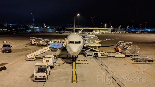 BOEING 737-400 (OE-IAQ) - Cargo ops
