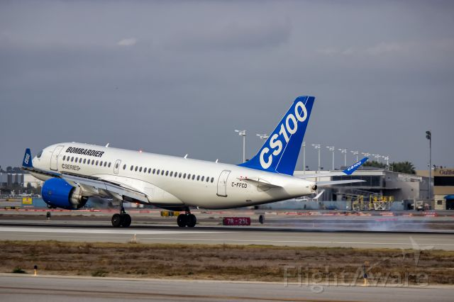 Bombardier CS100 (C-FFCO) - Bombardier BD-500-1A10 CSeries CS100 C-FFCO Arrives at Long Beach Airport for the first time. 12/10/15