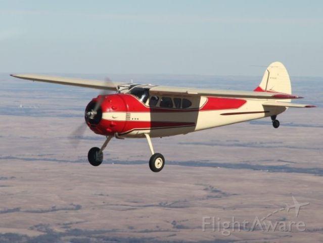 Cessna LC-126 (N1053D) - Over the Flint Hills of Kansas