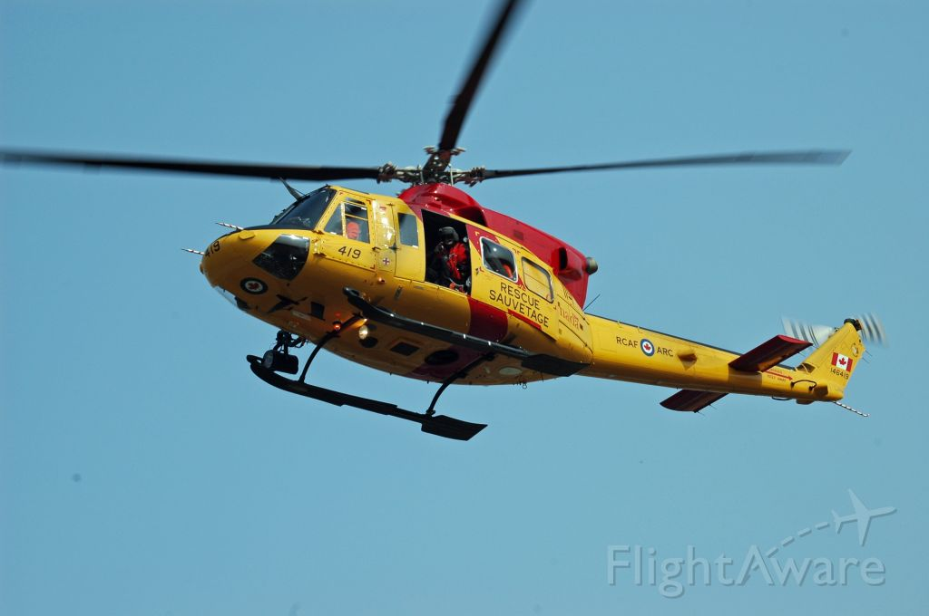 Bell 412 (14-6419) - 1995 Bell CH-146 Griffon (146419) arriving at CNF4 on September 22, 2020