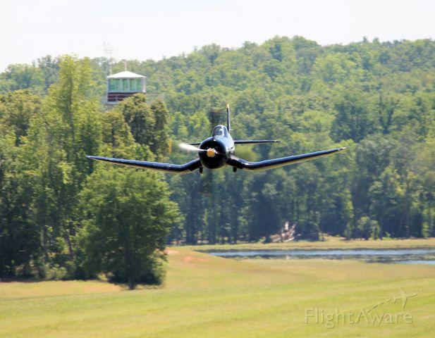 — — - F4U Corsair at Triple Tree Aerodrome