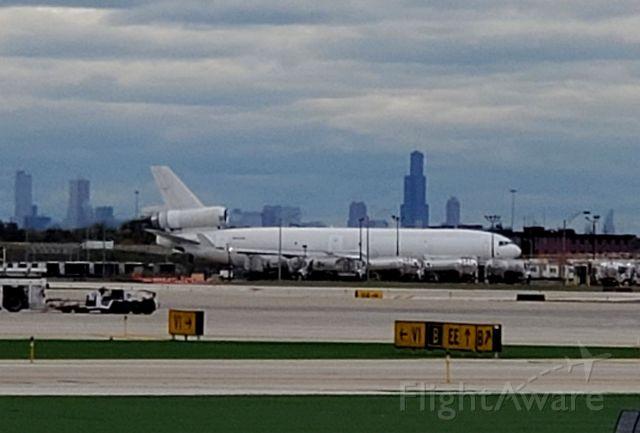 Boeing MD-11 (N543JN) - MD11 Cargo leaving ORD