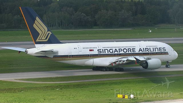 Airbus A380-800 (9V-SKT) - taxing to RWY16