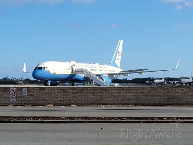 N80002 — - US Air Force C-32A on the transient aircraft ramp at Hickam AFB for FLOTUS Jill Biden's trip to O'ahu en route home from Japan.