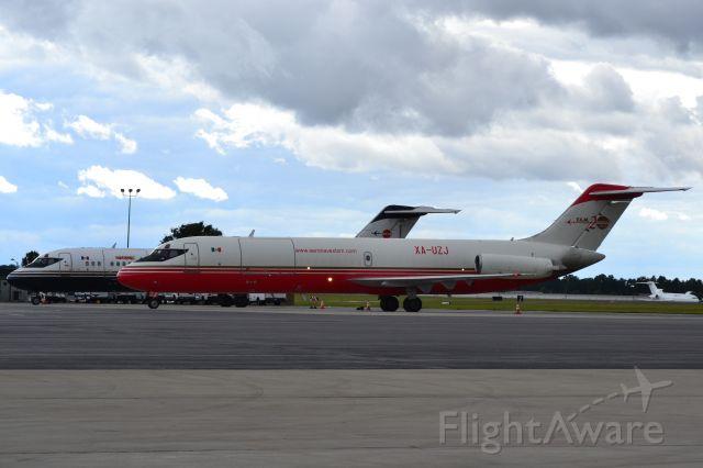 McDonnell Douglas DC-9-30 (XA-UZJ) - Pair of Aeronaves TSM DC9's (XA-UOG behind XA-UZJ) and an IFL Group B722 in the background (right) at KCLT - 10/27/18