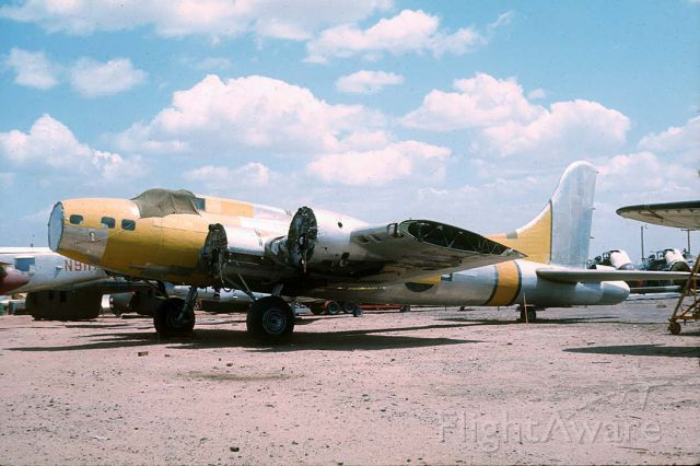 Boeing B-17 Flying Fortress (N93012) - Boeing B-17G  44-83575 Yucca Lady at Falcon Field on May 7, 1971. it was used by the Air Force for atomic weapons testing at Yucca Flats, Nevada.