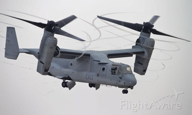 Bell V-22 Osprey (N797YX) - V-22 Osprey creating contrails as it hovers over the airfield in Mira Mar, CA