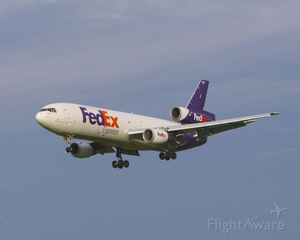 McDonnell Douglas DC-10 (N567FE) - Seen here on final for 33L at BWI June 13. 2013.
