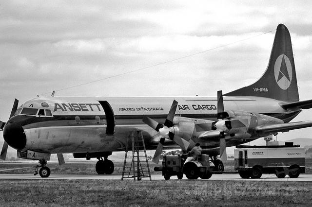 Piper PA-30 Twin Comanche (VH-RMA) - ANSETT AIR FREIGHTER - LOCKHEED L188A ELECTRA - REG : VH-RMA (CN 103944) - TULLAMARINE MELBOURNE VIC. AUSTRALIA - YMML 10/4/1977