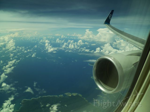 BOEING 767-300 (ZK-NCL) - Over the Bay of Islands (NZ) enroutr NZAA - RJBB
