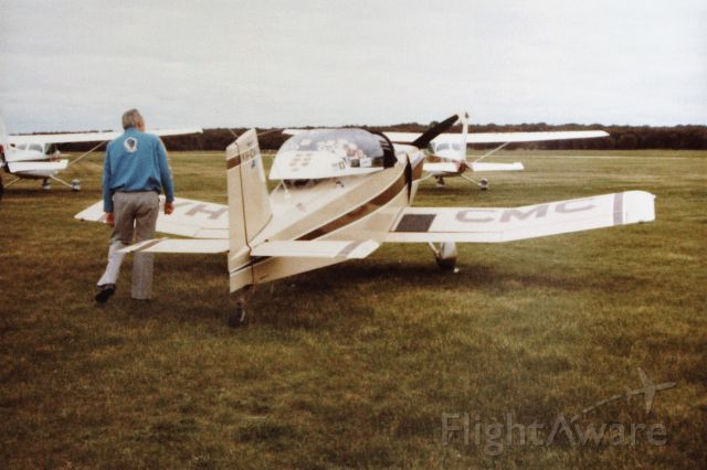 THORP Tiger (VH-CMC) - Clive cannings Thorpe 18 at Flinders Island, circa 1985