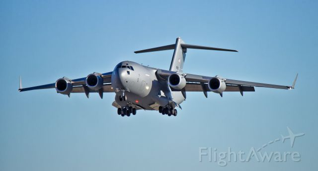 "Boeing Globemaster III (N271ZD) - A ""white tail"" Boeing C-17 Globemaster III (N271ZD) on approach after it"