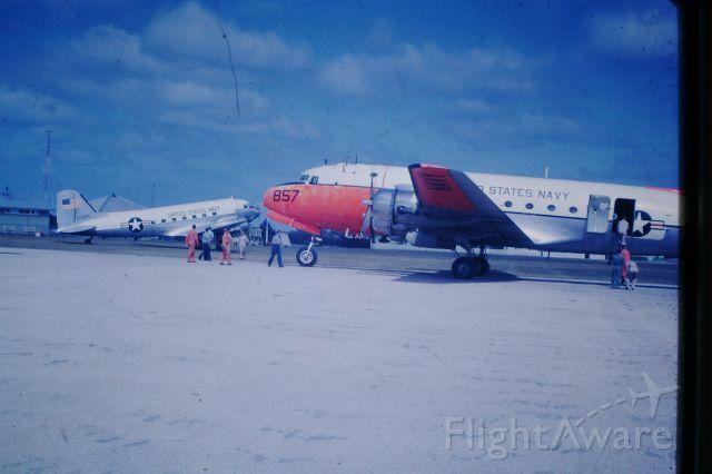 Douglas C-54 Skymaster (50-8857) - US Navy DC3 and DC4 at Flinders Island, circa 1964