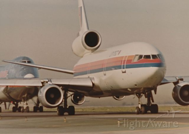 McDonnell Douglas DC-10 — - United DC-10 waiting to take off at KLAX in the spring of 1977