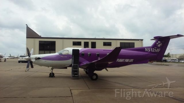 Pilatus PC-12 (N512MF) - CHRISTUS Mother Frances Health System's Flight For Life, PC-12, based at Tyler Pounds Field, Tyler, Texas.  Numerous missions were flow to coastal Texas during Hurricane Harvey.