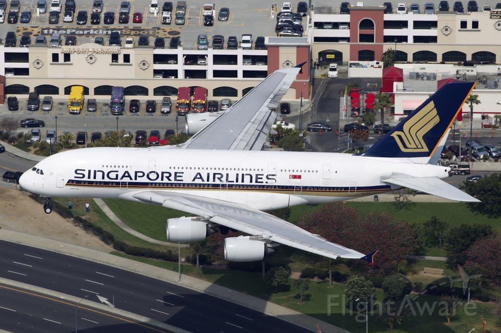 Airbus A380-800 (9V-SKA) - 9V-SKA - A380-800 landing at KLAX