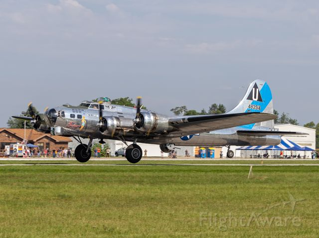 Boeing B-17 Flying Fortress (N9323Z) - A B-17G Sentimental Journey lifts off the runway at KPPO.