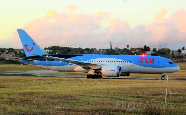 Boeing 787-8 (G-TUIC) - TOM838 to Birmingham starting takeoff roll on runway 09.