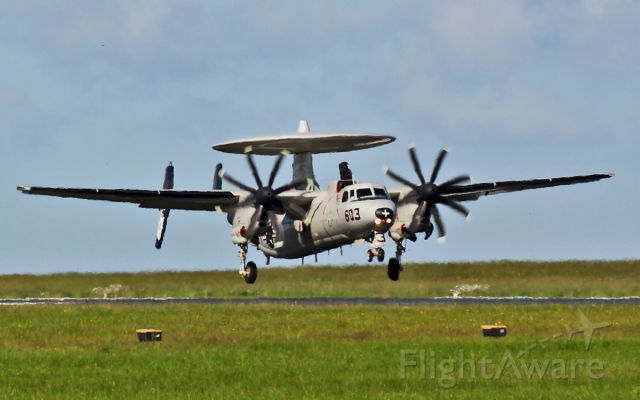 16-5295 — - usn e-2c hawkeye 165295 about to land at shannon 5/6/14.