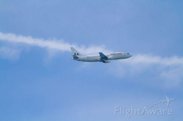 Boeing 737-700 (N149XA) - Xtra Airways N149XA departs from Charleston, S.C. (CHS) to Atlantic City, N.J. (ACY).