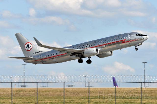 Boeing 737-800 (N905NN) - Astrojet Retro departing 23-L on 03-24-21 bound for DFW.
