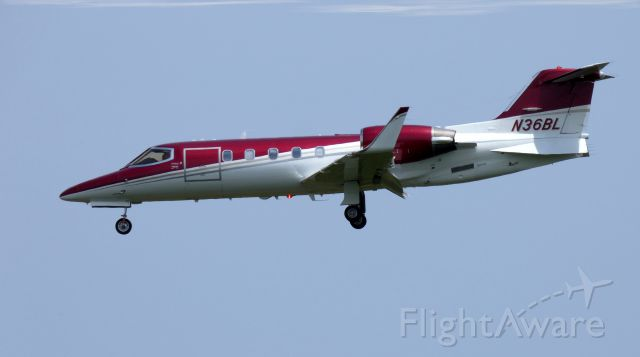 Learjet 31 (N36BL) - On final is this 1994 Learjet configured today for Medevac duty in the Summer of 2019.