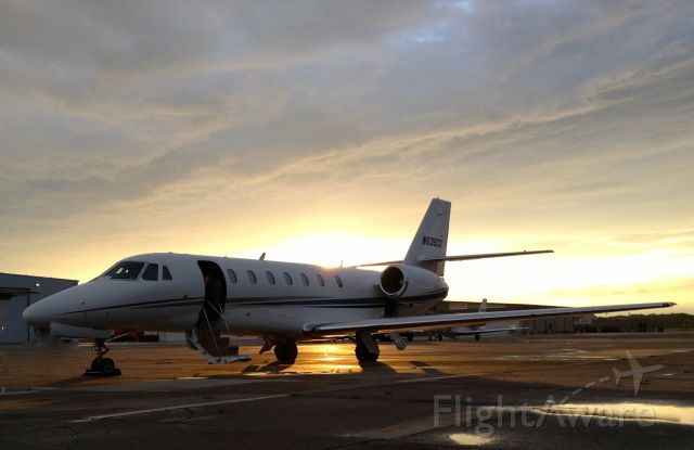 Cessna Citation Sovereign (N635CS) - Sovereign ready for action at sunset.