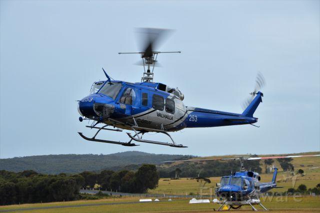 Bell UH-1V Iroquois (C-GRUV) - Valhalla Helicopters Bell 205 arriving at Flinders Island, Jan 2019