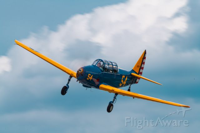 N54254 — - A 1941 Fairchild PT-19 (M-62A-3) making a pass over Heritage Field during an Antique Plane Fly In 5/22/21.