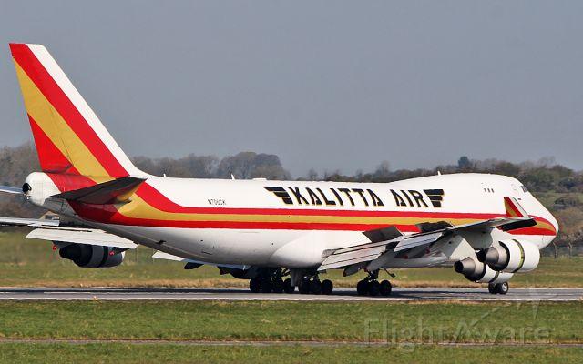 Boeing 747-400 (N706CK) - kalitta air b747-4b5f n706ck after landing at shannon 7/4/19.