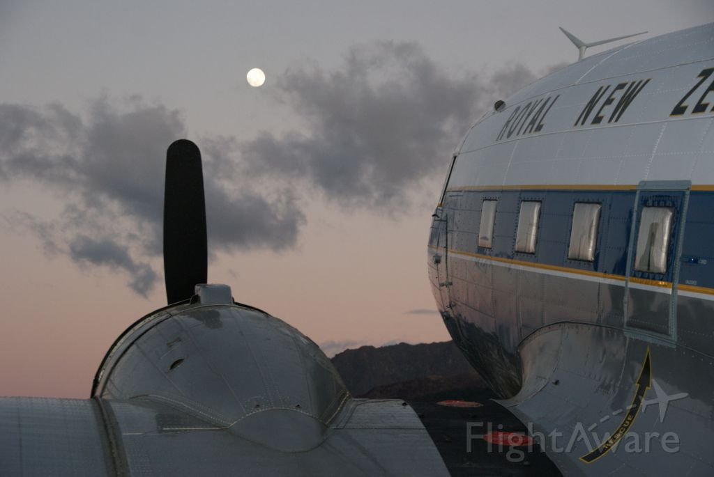 Douglas DC-3 (ZK-DAK) - Sunrise at Queenstown Airport prior to departure to Wanaka for the Warbirds Over Wanaka airshow at Easter weekend