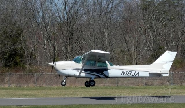 Cessna Skyhawk (N18JA) - Shortly after departure is this 1980 Cessna Skyhawk 172P in the Spring of 2021.