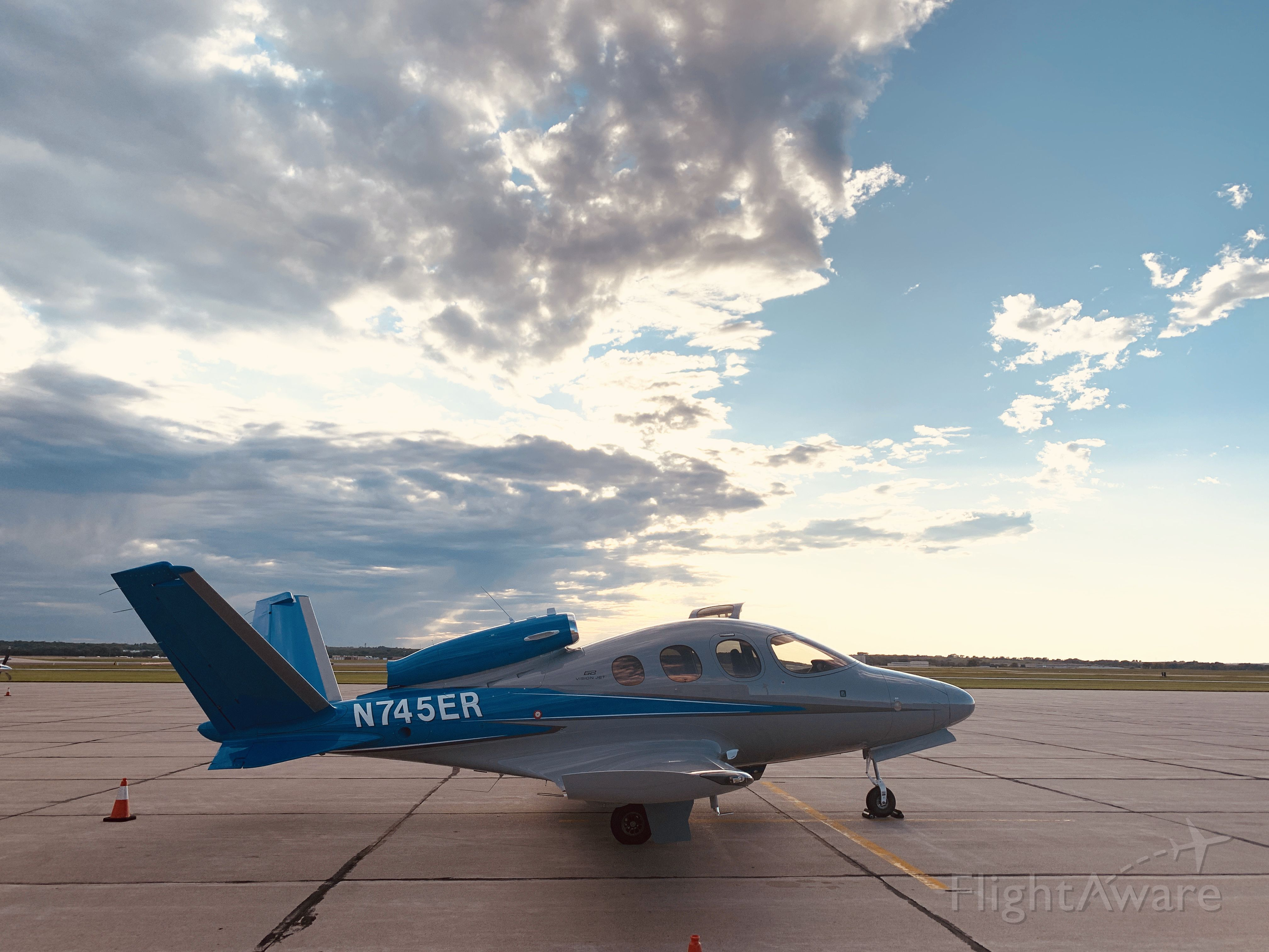 Cirrus Vision SF50 (N745ER) - On the ramp at Peterborough County Airport in the heart of the Kawartha Lakes