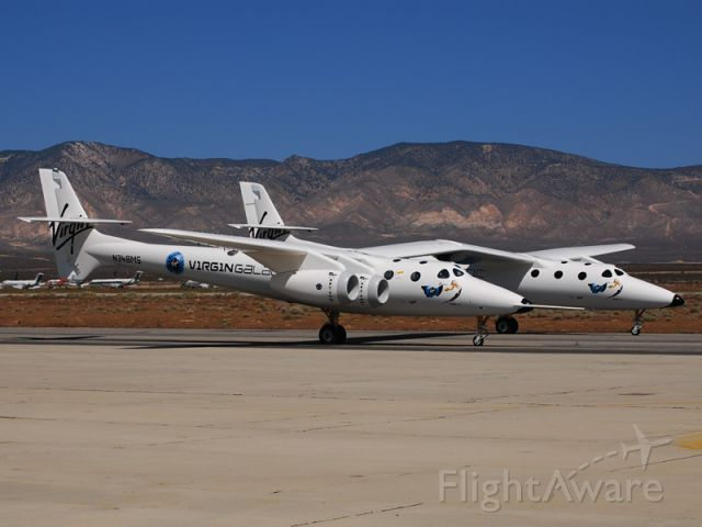 Scaled Composites White Knight 2 (N348MS) - Scaled Composites WhiteKnight 2 taxiis for takeoff at Mojave