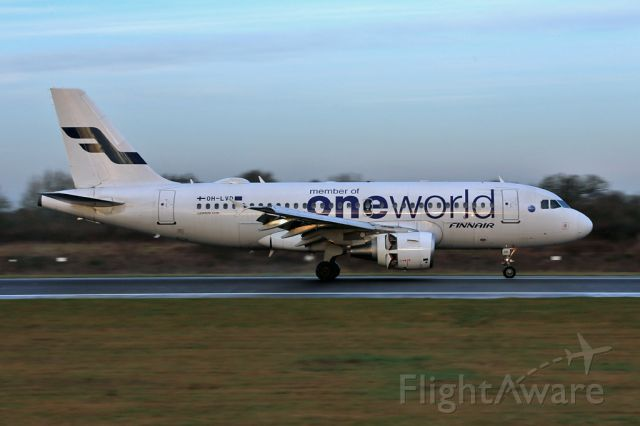 Airbus A319 (OH-LVD) - AY1361 after arriving from Helsinki