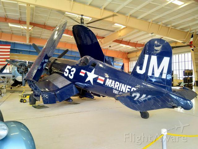 VOUGHT-SIKORSKY V-166 Corsair (NX53JB) - F4U-4 Corsair. This aircraft is located at the War Eagles Air Museum in Santa Teresa, New Mexico.