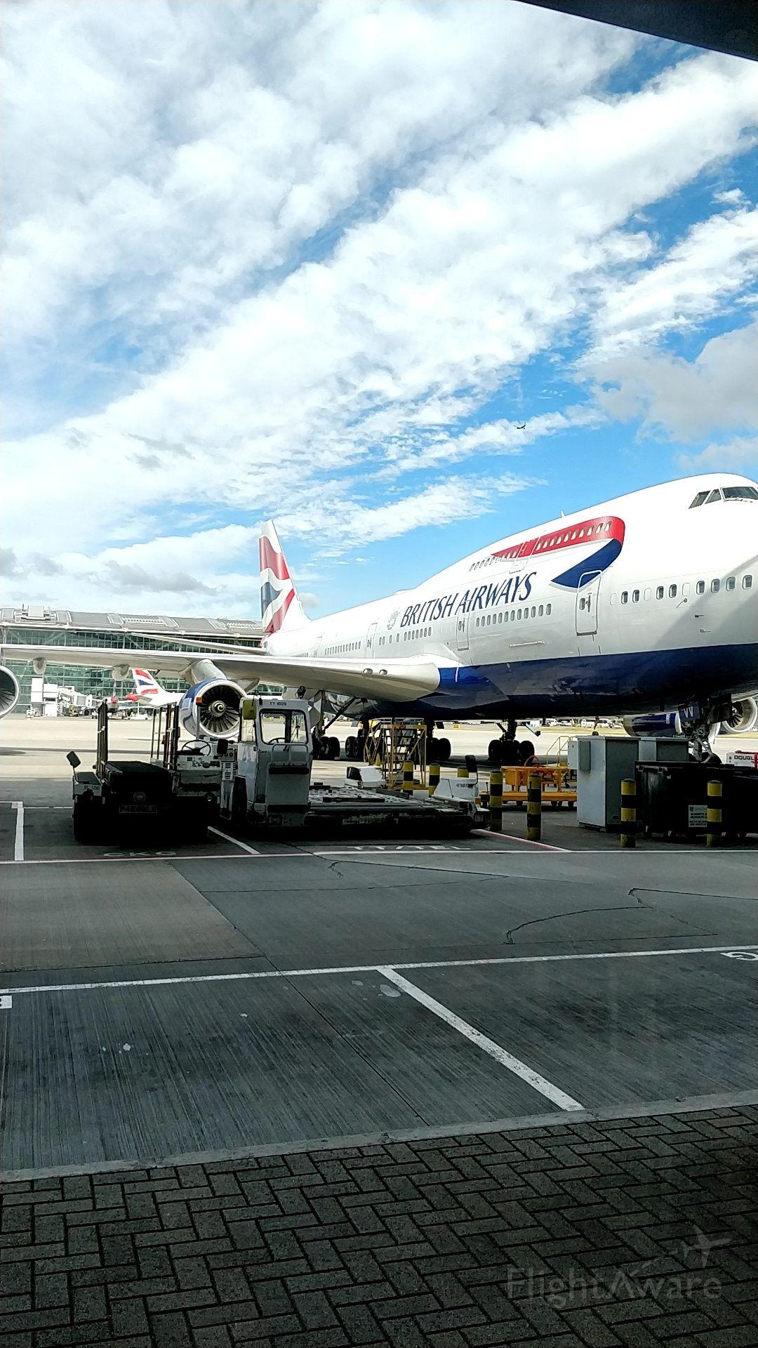 Boeing 747-400 (G-CIVA) - Unloading at Heathrow