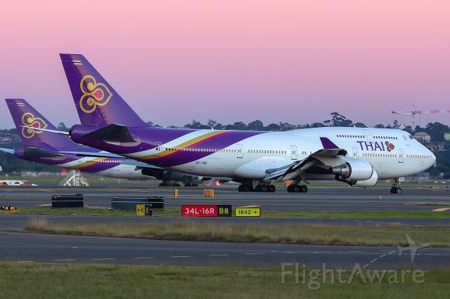 Boeing 747-400 (HS-TGB) - TG475/THA475 fr. BKK Bangkok, SYD/YSSY 24/06/2018